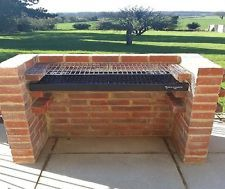 Extra Large Commercial Quality Brick BBQ Kit With Warming Rack BKB801 112 x 40