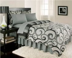 Royal Home Alexander TWIN Cotton Rich Bed in a Bag Comforter Bedding Set NEW
