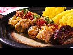 Cabbage leaves are stuffed with a ground meat, rice and herbs mixture and then cooked in tomato juice and some smoked meat for extra flavor Cabbage Casserole, Cabbage Soup, Cabbage Leaves, Romanian Cabbage Rolls Recipe, Romanian Food, Romanian People, Pork Recipes, Cooking Recipes, Cabbage Recipes
