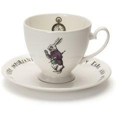 Mrs Moore's Vintage Store White Rabbit Teacup & Saucer