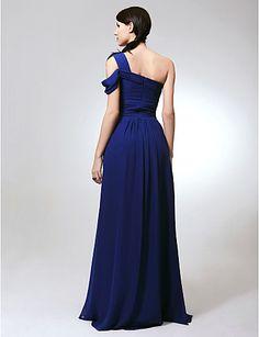domnisoara de onoare rochie podea lungime sifon coloană teacă rochie umăr – EUR € 79.99
