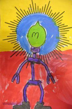 De Uitvinder on www.nl… The Inventor on www. Wordpress, Professor, Robot Art, Robots, Tweety, Art Drawings, Art Projects, Teaching, Kids