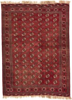 Red Torkaman Area Rug