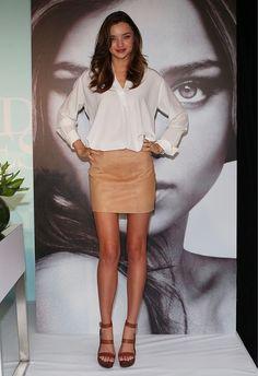 Miranda Kerr Style | Cute & Classy Mini | White Blouse | Heels | Classy | Sexy | Chic
