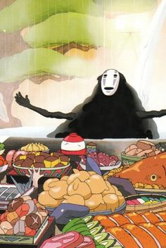 Spirited Away. Sometimes I think that No Face and I have a few things in common.
