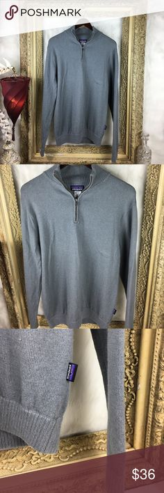 Patagonia Lambswool Pullover 1/4 Zip Sweater Size Small x Men's x Excellent Condition Patagonia Sweaters