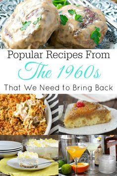 1960s recipes you need to try! #1960s #vintagerecipes