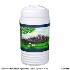 """Glorious Mountain"" Igloo Half Gallon Cooler"