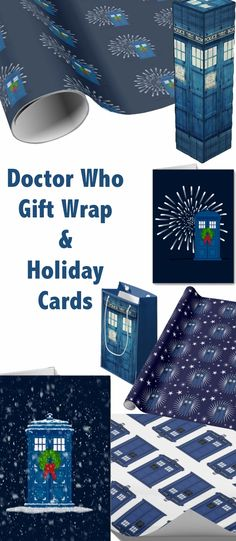 Doctor Who Gift Wrap & Holiday Cards