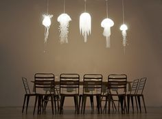 Jellyfish Inspired Medusae Collection Lighting by Roxy Russell 1