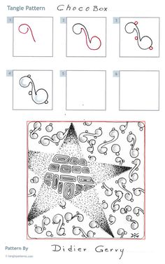 How to draw Didier Gervy's ChocoBox tangle pattern