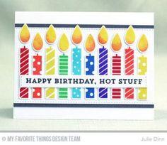 Handmade card from Julie Dinn featuring Make a Wish Card Kit #mftstamps