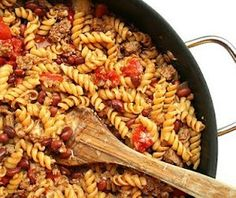 Turkey Taco Pasta Skillet | AllFreeCasseroleRecipes.com