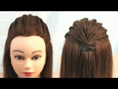wedding hairstyles front Most Beautiful Hairstyle for open hairstyle:party wedding Hairstyles For Medium Length Hair Easy, Easy And Beautiful Hairstyles, Easy Party Hairstyles, Open Hairstyles, Very Easy Hairstyles, Hairstyles 2018, Retro Hairstyles, Different Hairstyles, Engagement Hairstyles