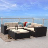 Found it at Wayfair - Ventura 4 Piece Lounge Seating Group with Cushions
