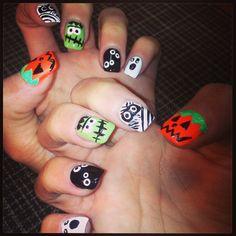 My Halloween nails :)