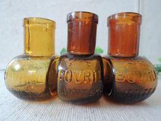 Glass Bottles イギリスアンティークガラスボトルBOVRIL年代別2oz3個セット インテリア 雑貨 家具 Antique ¥2600yen 〆07月09日