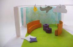 Proefmaquette podium kinderboekenweek Waanders in de Broeren