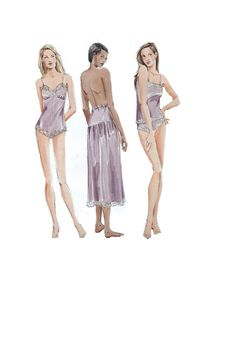 Vogue Lingerie Sewing Pattern Full Half by AdeleBeeAnnPatterns, $10.00
