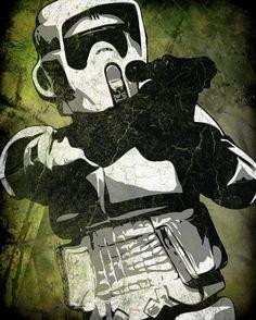 Star Wars Scout Trooper Pop Art Print 8 x 10 by cutitoutart, $10.00