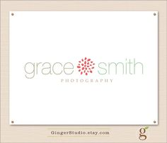Custom Premade Logo Design watermark by GingerStudio on Etsy, $30.00