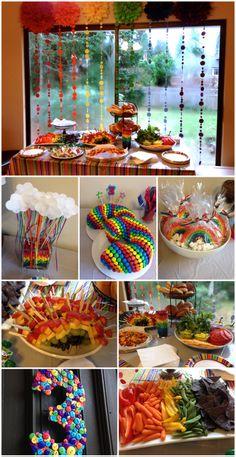 Rainbow 3rd Birthday Party