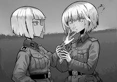 Anime Military, Military Girl, Comic Pictures, Manga Pictures, Guerra Anime, Anime Uniform, Character Art, Character Design, Female Soldier