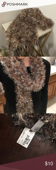 Fluffy scarf Jcpenney scarf, never worn!! jcpenney Accessories Scarves & Wraps