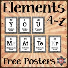 elements a z poster freebie you matter spelled out in periodic table elements
