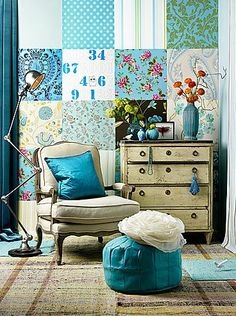 ♥ Turquoise Wallpaper Collage