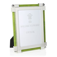 William Yeoward Classic Shargeen Lime Green 5 x 7 Frame Color Of The Year 2017, Green Home Decor, Celebrity Travel, Spring Green, Pantone Color, Hostess Gifts, Picture Frames, Lime, Crystals