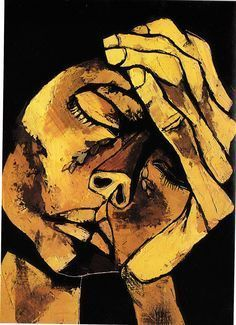 Guayasamin, Testa e (olio su tela). Art And Illustration, Arte Inspo, Arte Peculiar, Expressive Art, Psychedelic Art, Art Plastique, Portrait Art, Portraits, Face Art