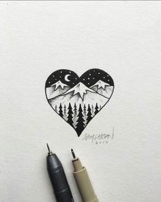 easy drawings – prodigalpressco easy drawing ideas - Drawing Tips Doodle Drawings, Doodle Art, Drawing Sketches, Drawing Ideas, Drawing Tips, Hand Drawings, Drawing Techniques, Heart Break Drawings, Easy Heart Drawings