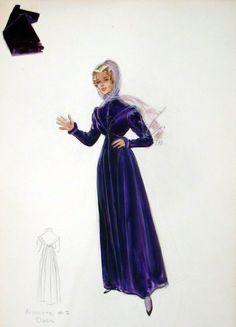 Edith Head sketch for Inger Stevens in The Buccaneer (1958)