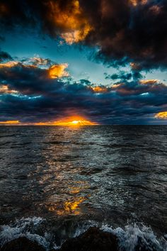 "opticxllyaroused: "" Sun cloud over sea by Dagur Jonsson """