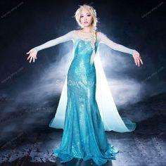 Little girl Frozen Elsa Halloween costume that are popular in 2015 - cape chiffon silk | Stuff to Buy | Pinterest | Elsa halloween costume ...  sc 1 st  Pinterest & Little girl Frozen Elsa Halloween costume that are popular in 2015 ...
