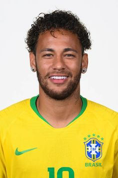 Neymar Jr of Brazil poses for a portrait during the official FIFA World Cup 2018 portrait session at the Brazil Team Camp on June 2018 in Sochi, Russia. Consigue fotografías de noticias de alta resolución y gran calidad en Getty Images Brazil Team, Neymar Brazil, Neymar Jr, Poses, Fifa World Cup 2018, World Football, Best Player, Soccer Players, All Star