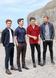 Tom Glynn-Carney, Fionn Whitehead, Harry Styles & Jack Lowden Dunkerque Premiere July 16, 2017