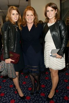 Princess Beatrice, Duchess of York - Sarah Ferguson and Princess Eugenie at Chime for Change [Photo by James Mason]