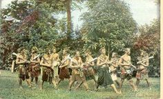 Head hunting dance, Samoa