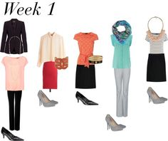 One month of office outfits for $600. Great mix ideas.