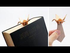 ORIGAMI CRANE BOOKMARK (Jo Nakashima) - YouTube
