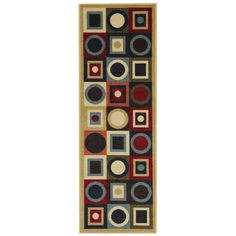 "Rugnur Hammam Maxy Home Contemporary Geometric Area Rug Rug Size: Runner 2'8"" x 9'10"""