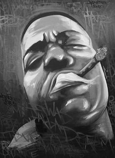 Notorious B.I.G. painting