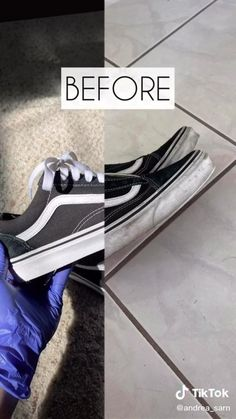 TikTok for Developers How To Clean White Sneakers, How To Clean Vans, Clean Shoes, White Vans Outfit, White Nike Shoes, Vans Shoes Outfit, Cleaning White Vans, Cleaning Sneakers, Diy Clothes And Shoes