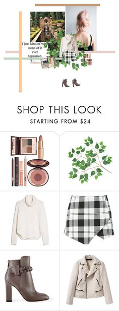 """""""maze garden"""" by anda-mihaela ❤ liked on Polyvore featuring Charlotte Tilbury, MANGO, Valentino and Suck"""