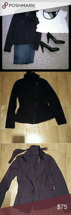 New Black Jacket Armani Exchange Beautiful night out in the town jacket. Black size small. 49% cotton & 48% nylon & 3% spandex. To wash turn garment inside out and machine wash cold, hang dry. Never worn, tag still on. Armani Exchange Jackets & Coats Blazers