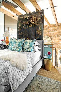 Loft Bedroom with Oriental Screen