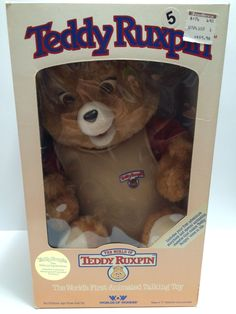 (TAS030363) - 1985 WOW Vintage Teddy Ruxpin Animated Talking Toy