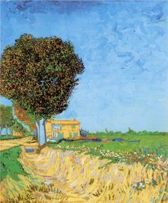 A lane near Arles by Vincent Van Gogh (1888)